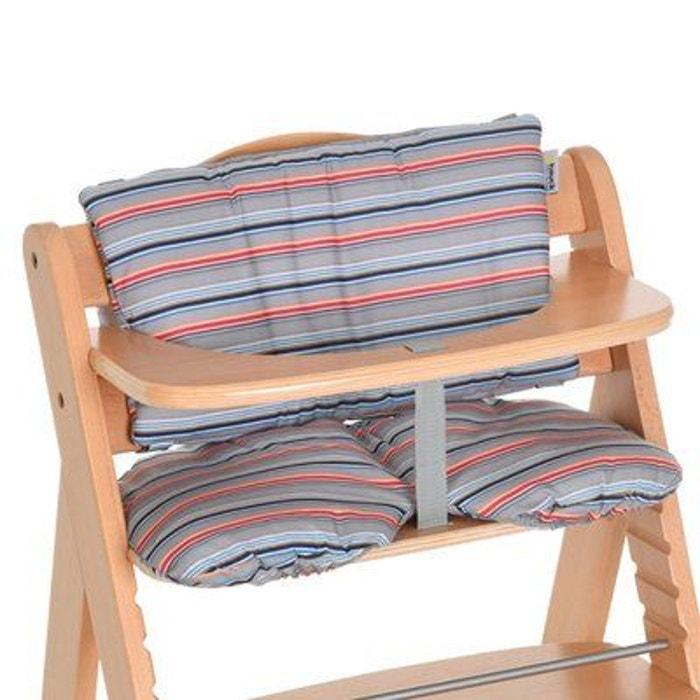Hauck Le Coussin Dassise Multi Stripe Grey Accessoires Chaise Haute