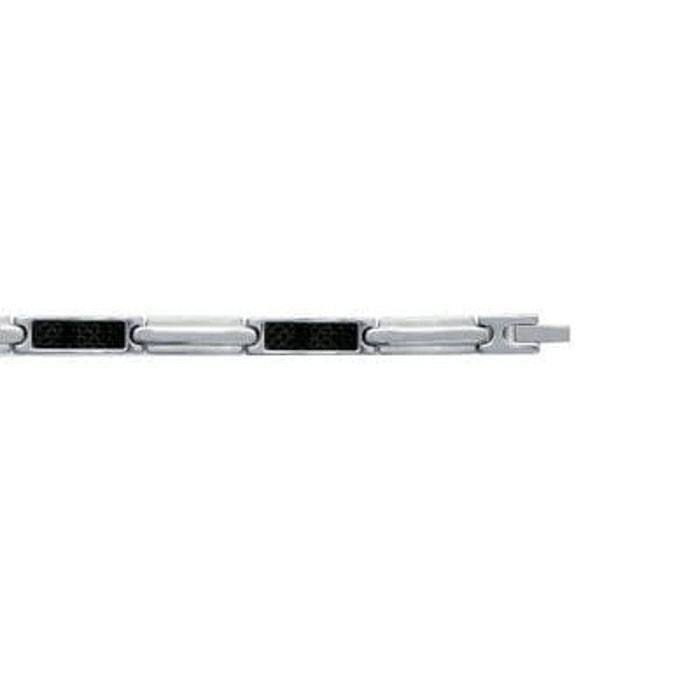 Bracelet homme gourmette 21 cm carbone acier inoxydable couleur unique So Chic Bijoux | La Redoute Pas Cher En Ligne 2bE4BZ