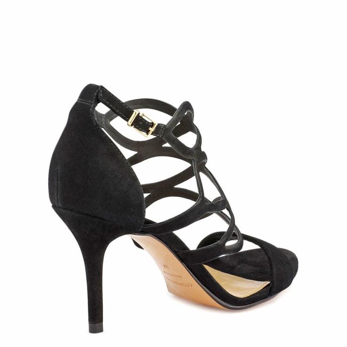 Sandales cuir avoa noir Cosmoparis