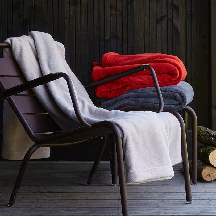couverture polaire gris carbonne sylvie thiriez la redoute. Black Bedroom Furniture Sets. Home Design Ideas