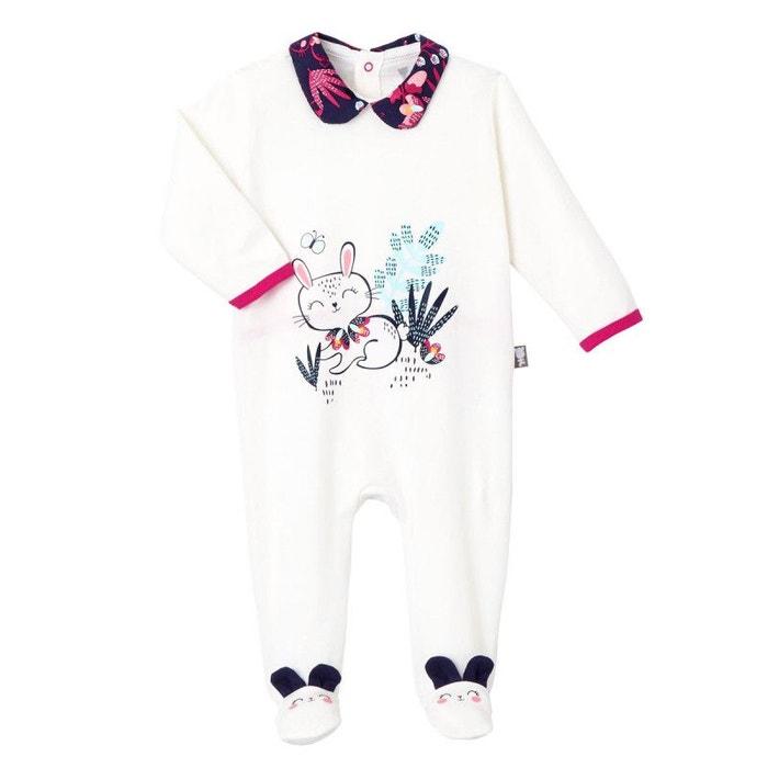 d14f329e45dcf Pyjama bébé pink bunny blanc Petit Beguin