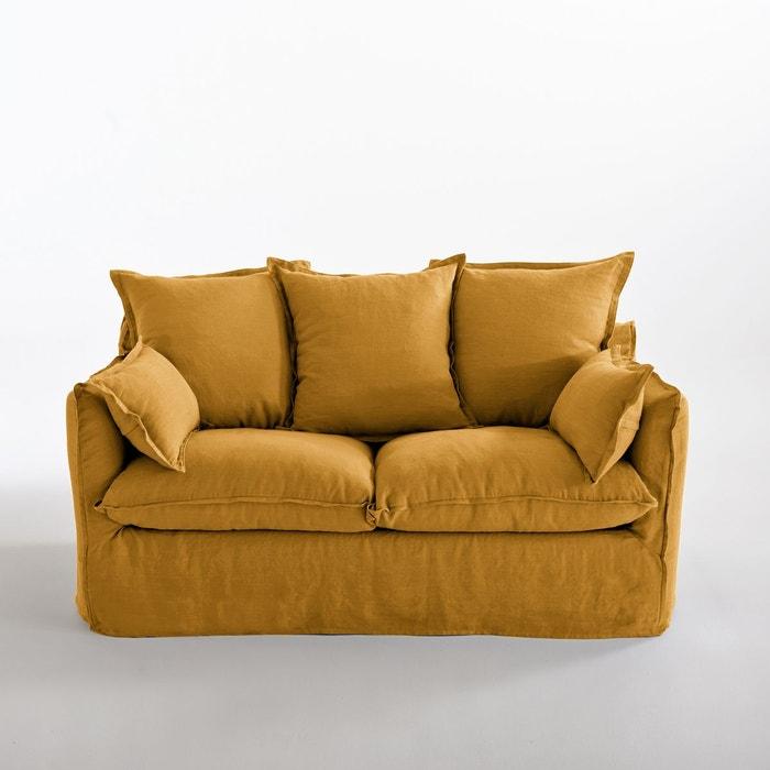 canap convertible en lin froiss odna bultex la redoute interieurs la redoute. Black Bedroom Furniture Sets. Home Design Ideas