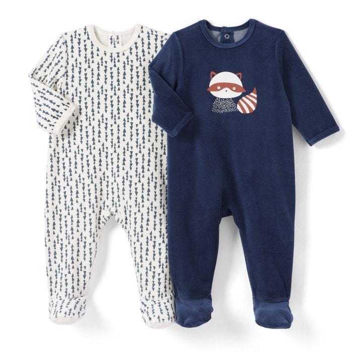 Lote de 2 pijamas, 0 mês-3 anos  La Redoute Collections image 0