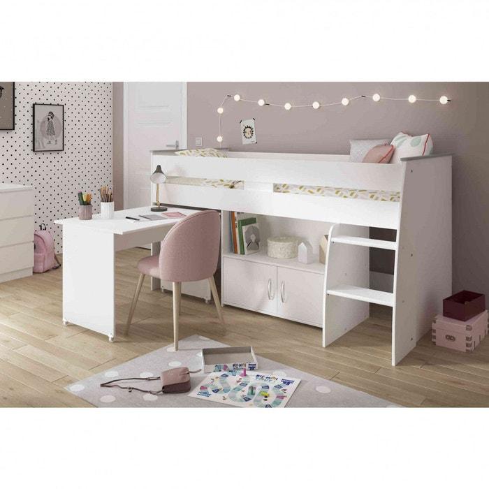 lit enfant combin blanc avec bureau blanc terre de nuit. Black Bedroom Furniture Sets. Home Design Ideas
