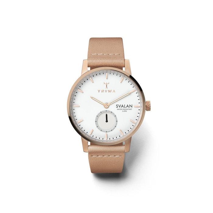 Montre analogique bracelet cuir véritable svalan beige Triwa | La Redoute Stocker Prix Pas Cher nsW8BSUb9b