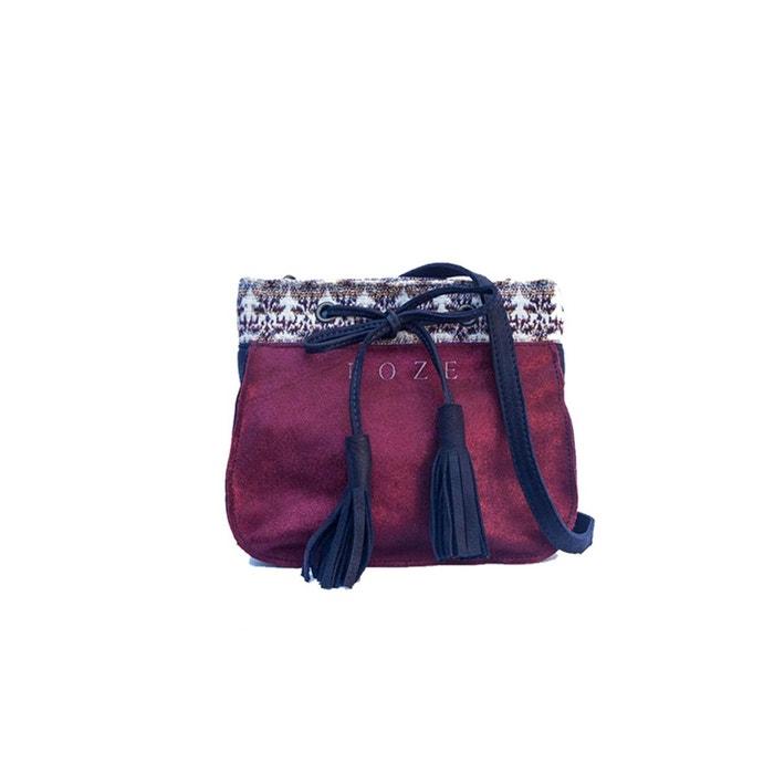 Petit sac en cuir joey bordeaux Roze   La Redoute Visite À Vendre vNYi4p3K