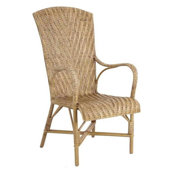 Fauteuil en manau et lame de rotin antique naturel aubry gaspard la redoute - La redoute fauteuil rotin ...