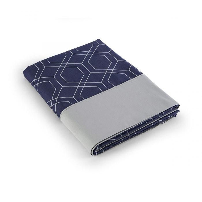 drap plat galata satin 80fils bleu tradition des vosges la redoute. Black Bedroom Furniture Sets. Home Design Ideas