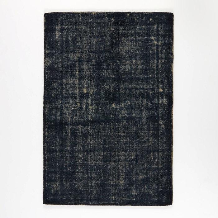 tapis bicolore bleugris en laine eberling ampm image 0 - Tapis Gris