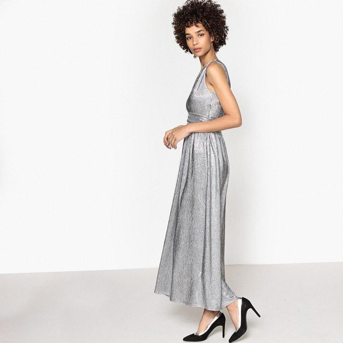 Платье длинное блестящее, декольте спереди, застежка на молнию  MADEMOISELLE R image 0