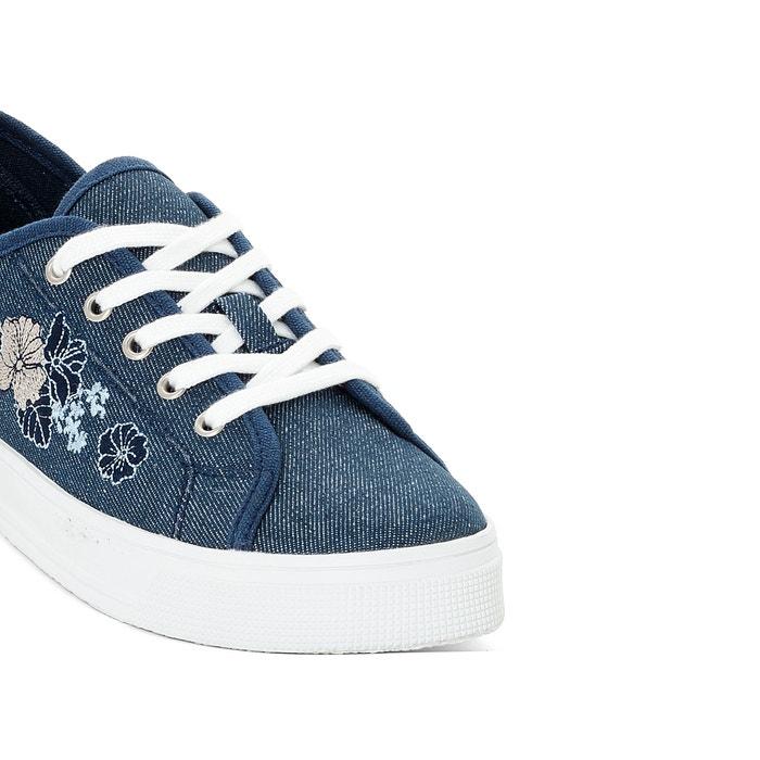 Кеды синие с цветами 76