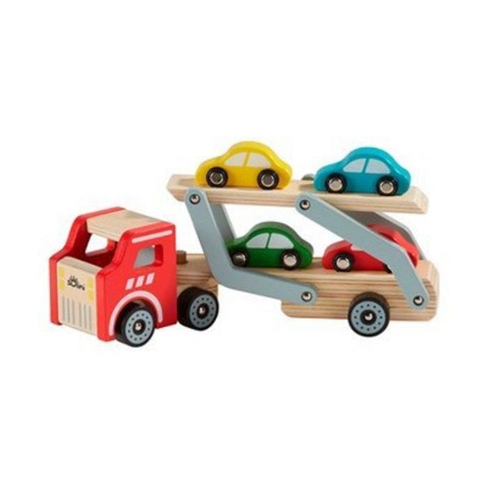 solini le camion de transport de voitures jouet en bois naturel multicolore solini la redoute. Black Bedroom Furniture Sets. Home Design Ideas