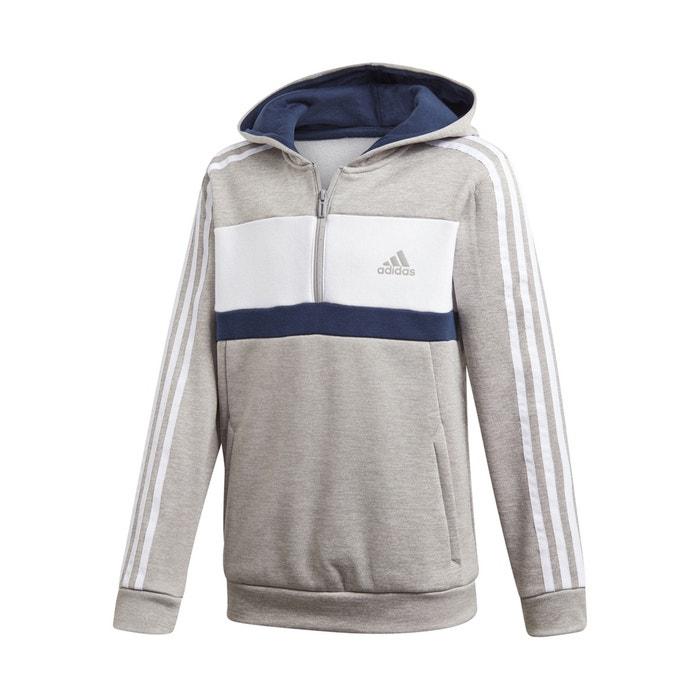 5f34acac7fc1 Felpa con cerniera 7 – 16 anni grigio / bianco / nero Adidas Originals | La  Redoute