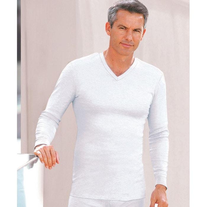 meilleur découvrir les dernières tendances usine authentique T-shirt col v Thermolactyl