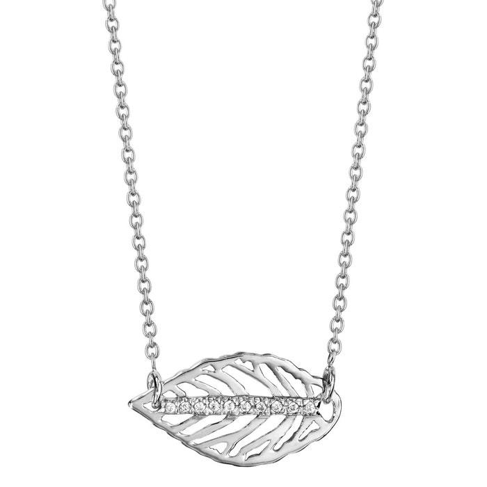 Collier longueur réglable: 39 à 42 cm feuille oxyde de zirconium blanc argent 925 couleur unique So Chic Bijoux | La Redoute Nouvelle Marque Unisexe En Ligne La Fourniture Vente Excellente 7hPKvEuxB