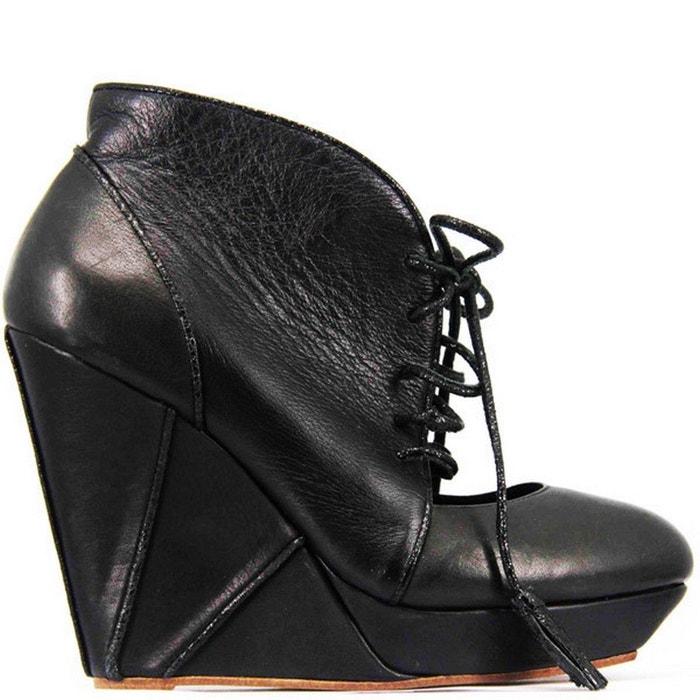 Chaussure femme en cuir fionella noir Pring Paris
