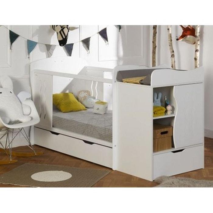 lit b b volutif avec tiroir blanc 70x140 blanc alfred et compagnie la redoute. Black Bedroom Furniture Sets. Home Design Ideas
