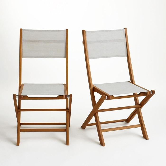 chaise de jardin pliante lot de 2 exodor beige chin la redoute interieurs la redoute. Black Bedroom Furniture Sets. Home Design Ideas