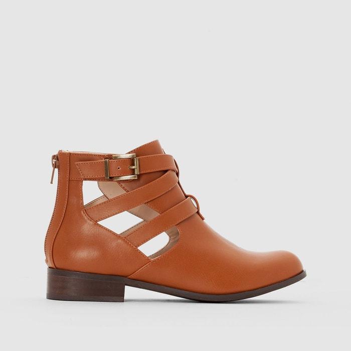 Boots synthétique   camel La Redoute Collections   La Redoute
