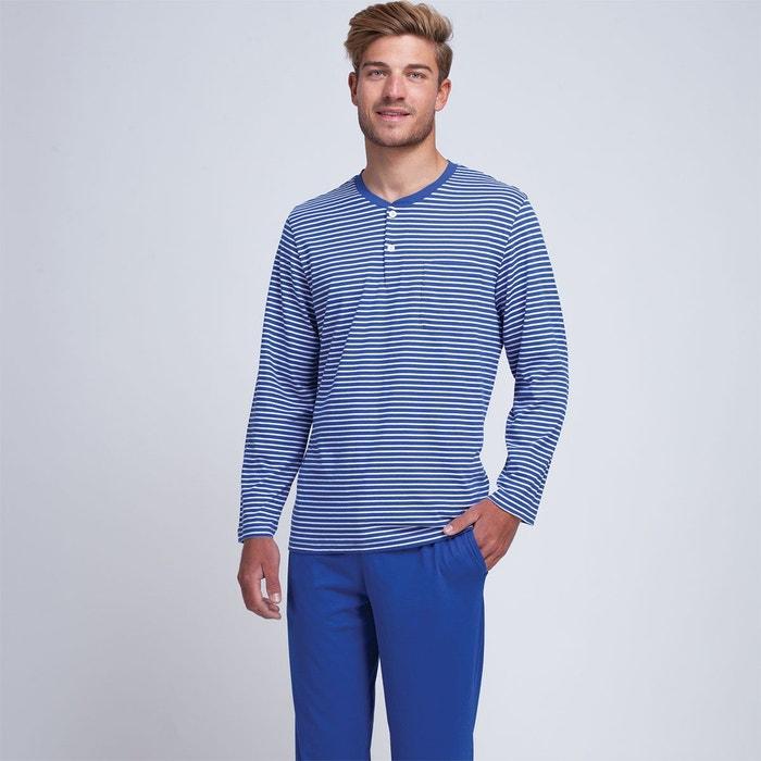 T Bonjour Col Pyjama Homme Long Monsieur Y6gI7vymbf