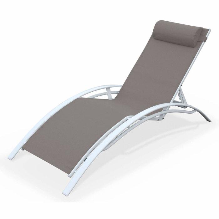 bain de soleil en aluminium et textil ne louisa taupe taupe alice s garden la redoute. Black Bedroom Furniture Sets. Home Design Ideas