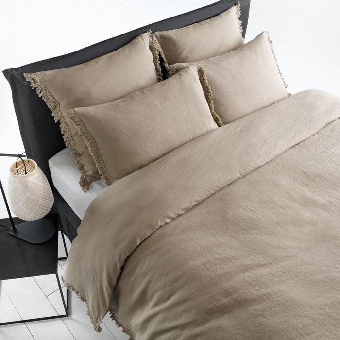 housse de couette chanvre lav kyra am pm la redoute. Black Bedroom Furniture Sets. Home Design Ideas