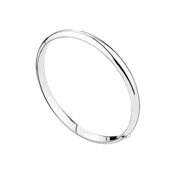 Bracelet demi jonc en argent 925 passivé, articulé, 12g, ø60mm argent Canyon   La Redoute