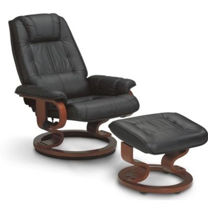 Fauteuil de relaxation cuir cama¯eu Evolutif