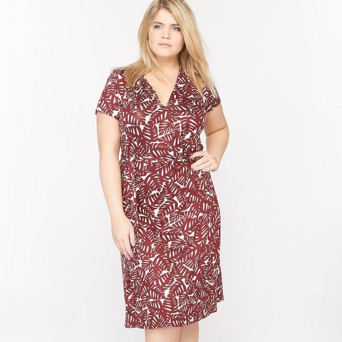 Платье в форме каш-кер из трикотажа с рисунком рисунок пальма Castaluna    La Redoute f40bfe46ad8