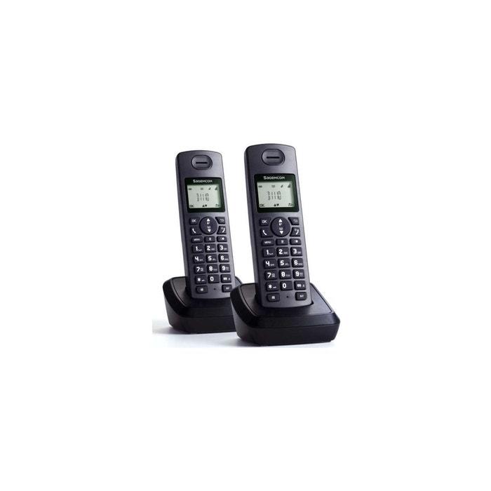 T l phone sans fil duo sagemcom d1110 duo couleur unique sagemcom la redoute - La redoute telephone gratuit ...