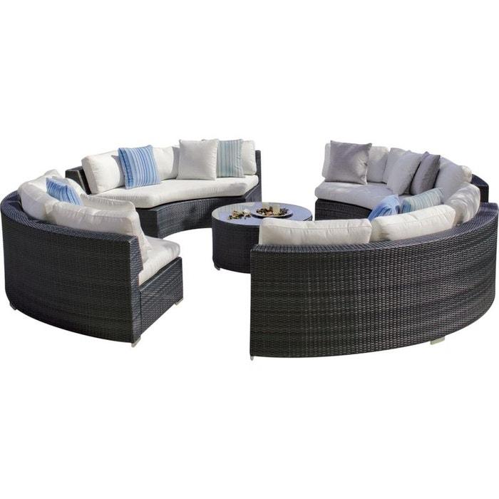 canap jardin cercle et table basse salermo blanc hevea la redoute. Black Bedroom Furniture Sets. Home Design Ideas