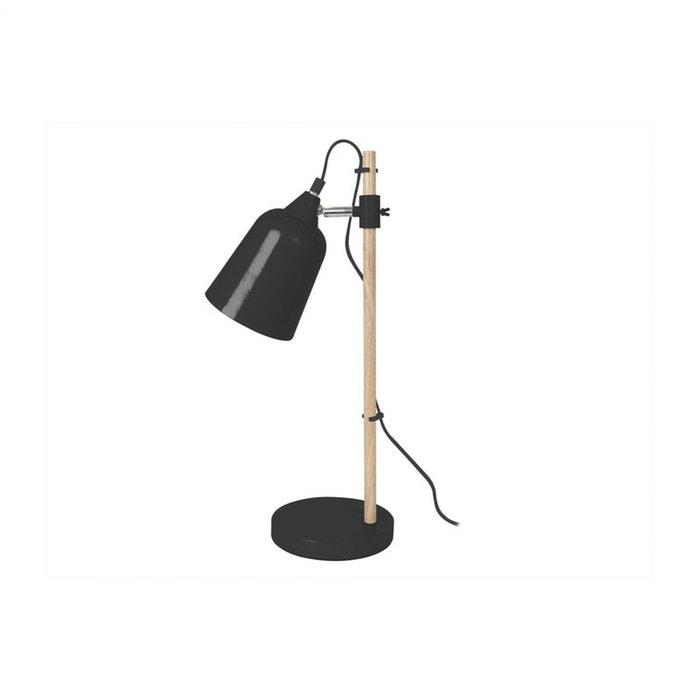 lampe de bureau wood like coloris blanc leitmotiv. Black Bedroom Furniture Sets. Home Design Ideas