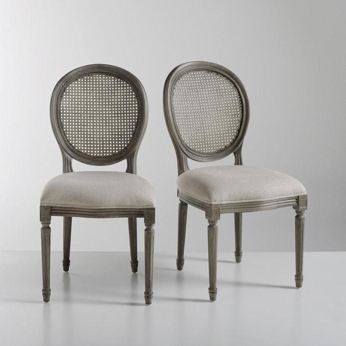 Chaise m daillon lot de 2 nottingham la redoute interieurs bois clair natur - Chaises louis xvi pas cher ...