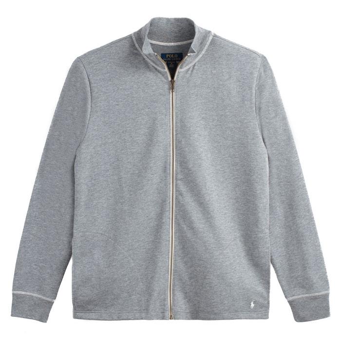 Veste jersey zippée col montant gris Polo Ralph Lauren   La Redoute 594d8326228
