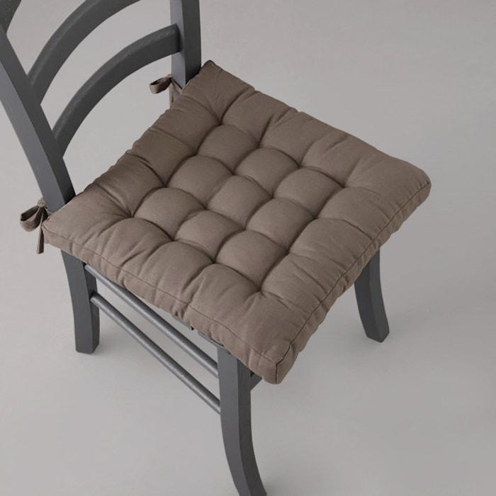 Cotton button padded seat pad scenario la redoute for Chaise la redoute