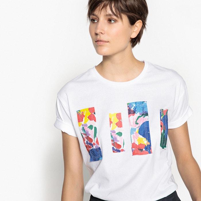 T-shirt fantasia, scollo rotondo, maniche corte  La Redoute Collections image 0