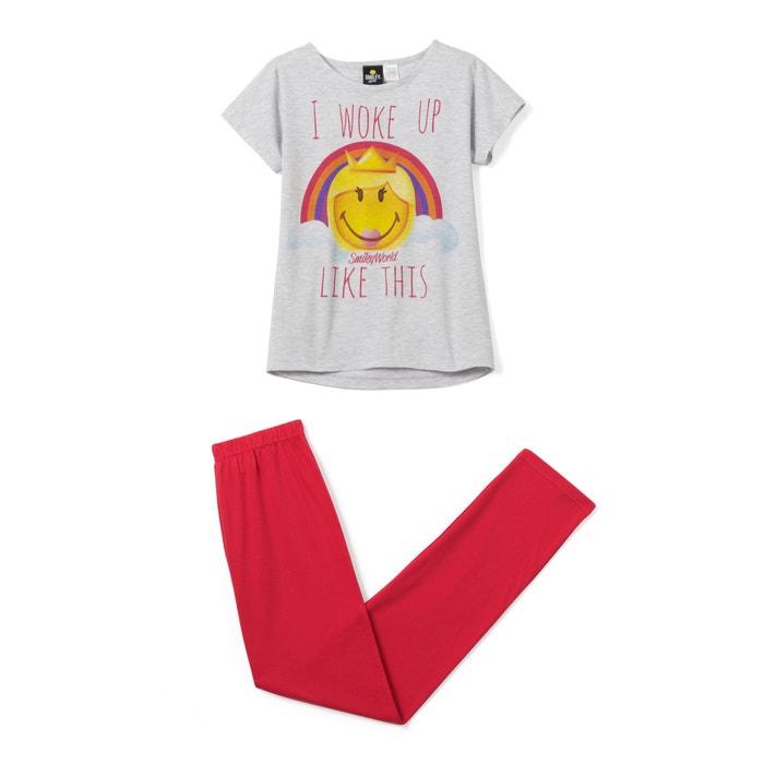 Image Pyjama imprimé, Smiley, manches courtes SMILEY