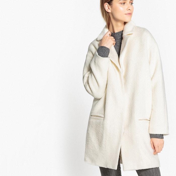f5746ddac71 Пальто покроя оверсайз 48 % шерсти слоновая кость La Redoute Collections