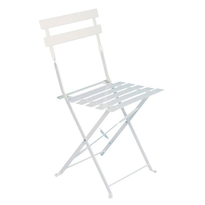 Chaise de jardin métal pliante camargue blanche blanc Hesperide | La ...