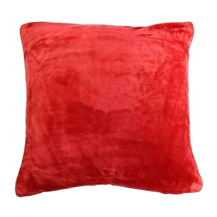 housse de coussin polaire rouge 60 x 60 cm storex la redoute. Black Bedroom Furniture Sets. Home Design Ideas