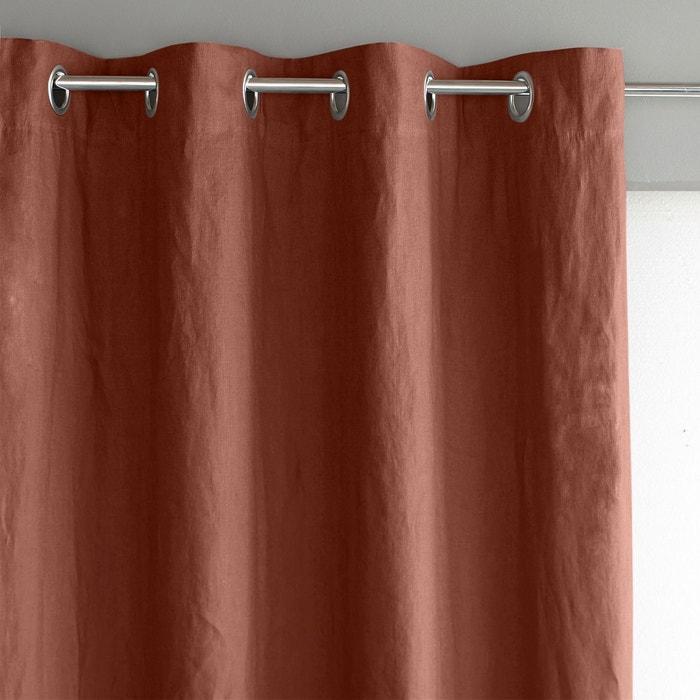 rideau lin lav doubl illets private blanc am pm la redoute. Black Bedroom Furniture Sets. Home Design Ideas