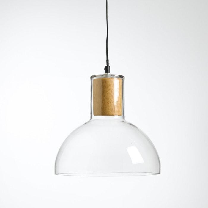 afbeelding Hanglamp in glas en hout, Lizia La Redoute Interieurs