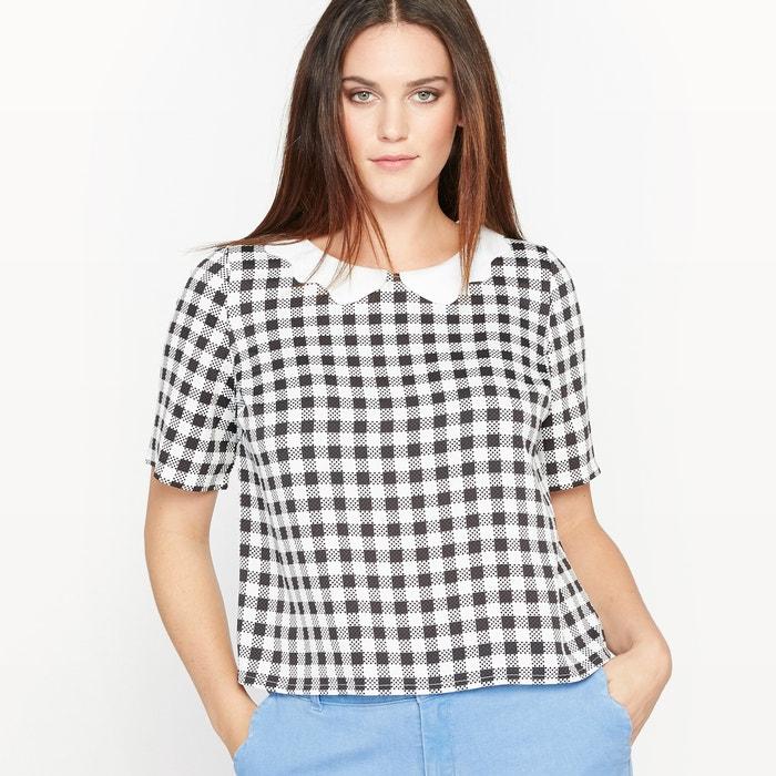 afbeelding Geruite blouse met afneembare kraag CASTALUNA