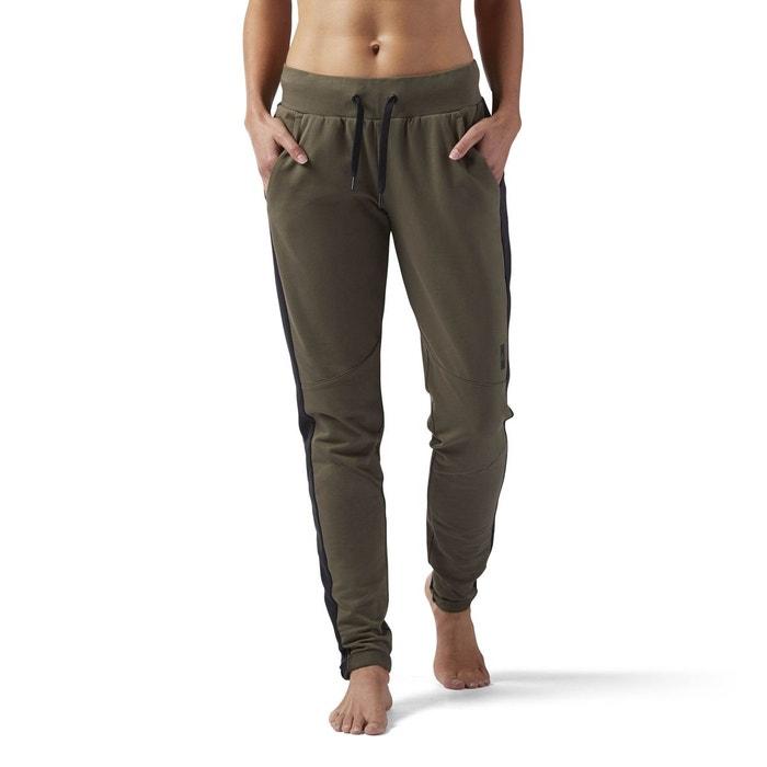 Pantalon training supply slim vert Reebok Sport  bea659fbdd8