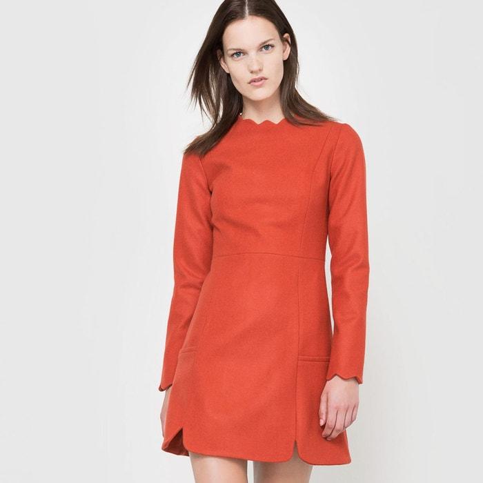 robe manches longues rouge brique coralie marabelle x la redoute la redoute. Black Bedroom Furniture Sets. Home Design Ideas