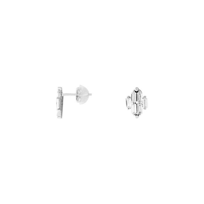 Mode Pas Cher En Ligne boutique Boucles d'oreilles or 375/1000 oxyde blanc Cleor | La Redoute 2018 Nouvelle n4NBlXSbJM