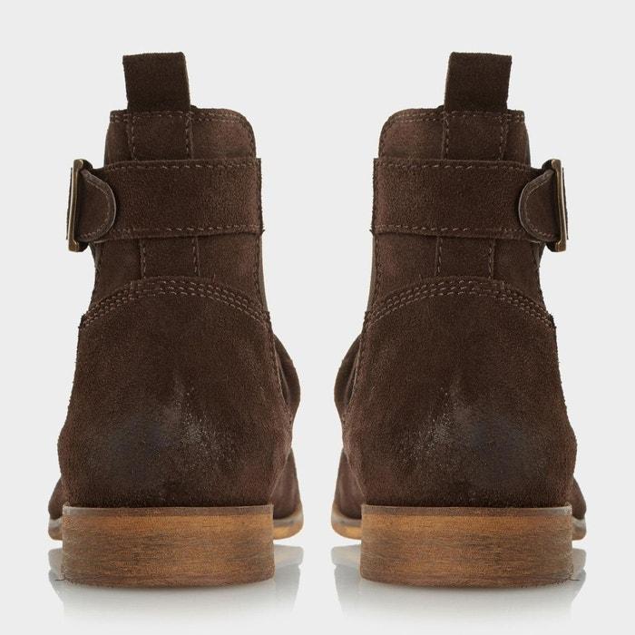 Buckle strap ruched boot - casper Dune London