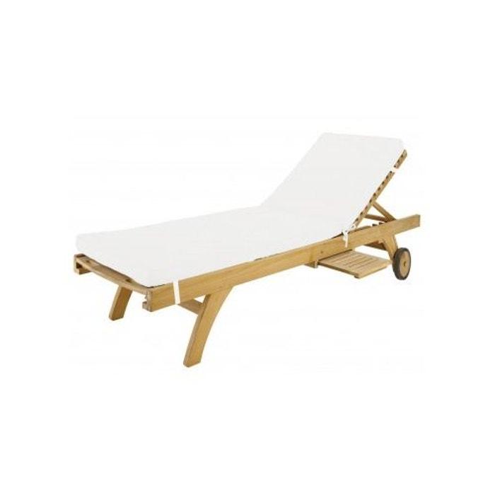 coussin de chaise longue outdoor imperm able beige storex la redoute. Black Bedroom Furniture Sets. Home Design Ideas