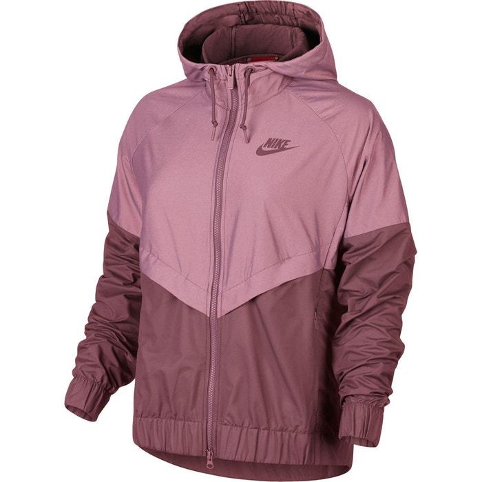 Coupe-vent femme court à capuche rose Nike | La Redoute
