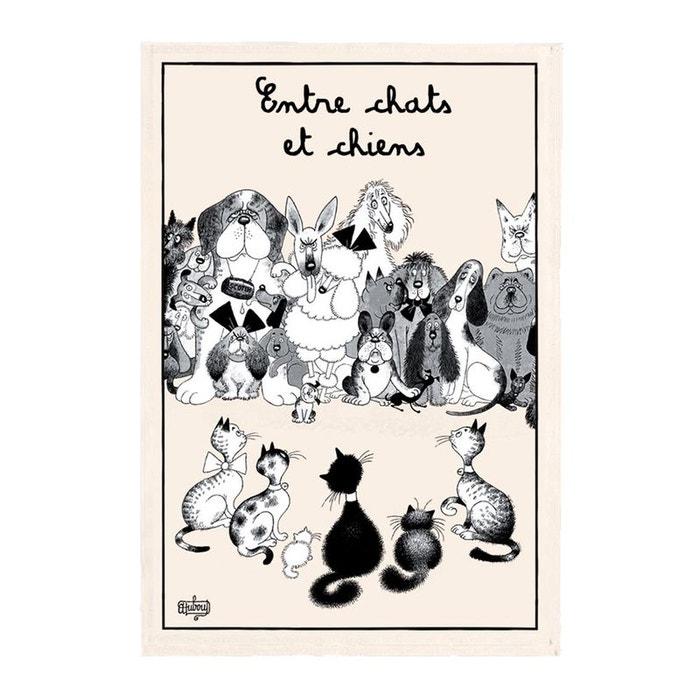 torchon dubout entre chats et chiens ecru t b maison la redoute. Black Bedroom Furniture Sets. Home Design Ideas